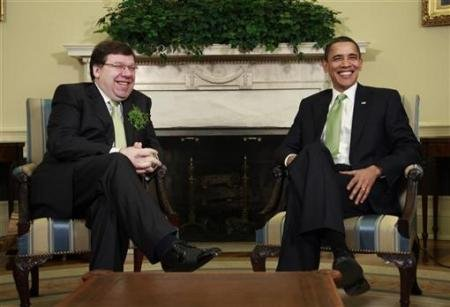 President Obama and Irish Prime Minister Brian Cowen